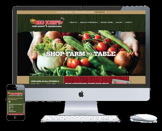 northwest indiana website design Big John's Farm Market & Greenhouses cms theme