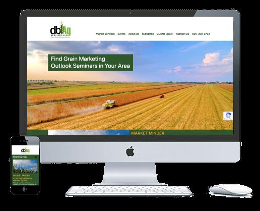 northwest indiana website design DB Ag Services Grain Marketing Advisory Service custom cms theme