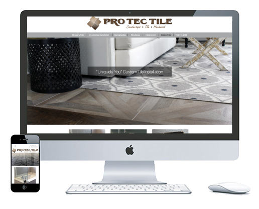 northwest indiana website design Pro Tec Tile Countertops, Tile and Hardwood Installation custom cms