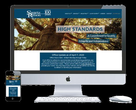 northwest indiana website design Swartz Retson Certified Public Accountants cms