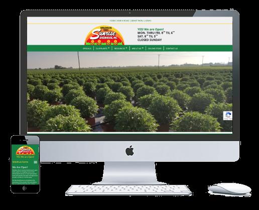 northwest indiana website design Woldhuis Farms Sunrise Greenhouse ecommerce custom cms