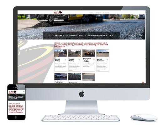 northwest indiana website design Boyd Asphalt Milling, Paving, Sealcoating and Cracksealing custom cms