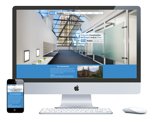 northwest indiana website design Knudsen Construction Construction Company custom