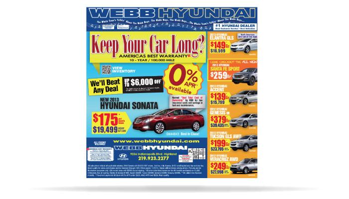 Webb Hyundia Northwest Indiana Advertising