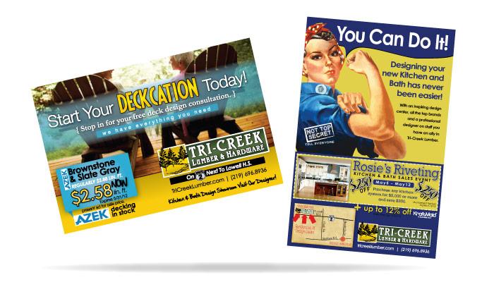 Tri-Creek Lumber Advertising NWI