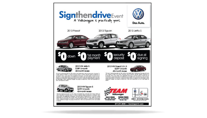Northwest Indiana Team VW Advertising