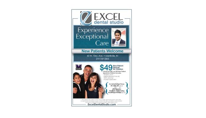 Excel Dental Studio Advertising and Public Relations Designs
