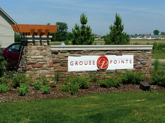 Grouse Pointe Indiana Signage