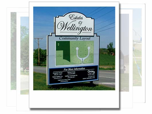 Estates of Wellington Northest Indiana Signage Design
