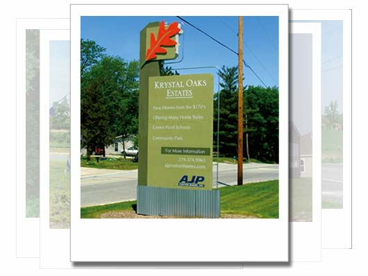 AJP Custom Homes Signage Design