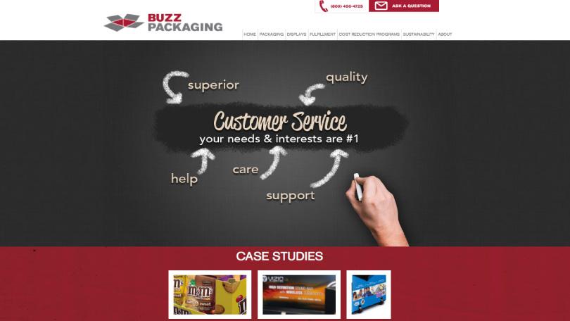 Buzz Packaging Web Design