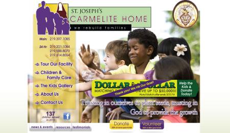 Carmelite Home Website Design and Logo Branding NWI