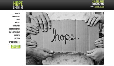 Hope Church Website Design NWI