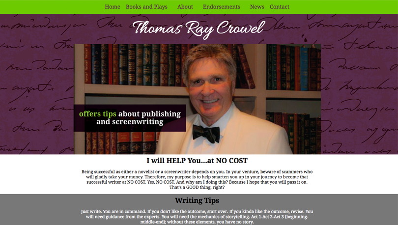 Thomas Ray Crowel Responsive Website Design NWI