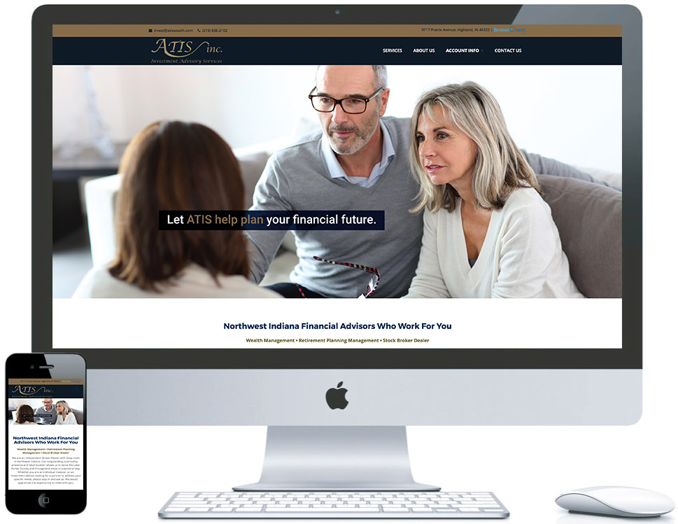 northwest indiana website design ATIS Inc. Investment Advisory Services/Broker cms theme