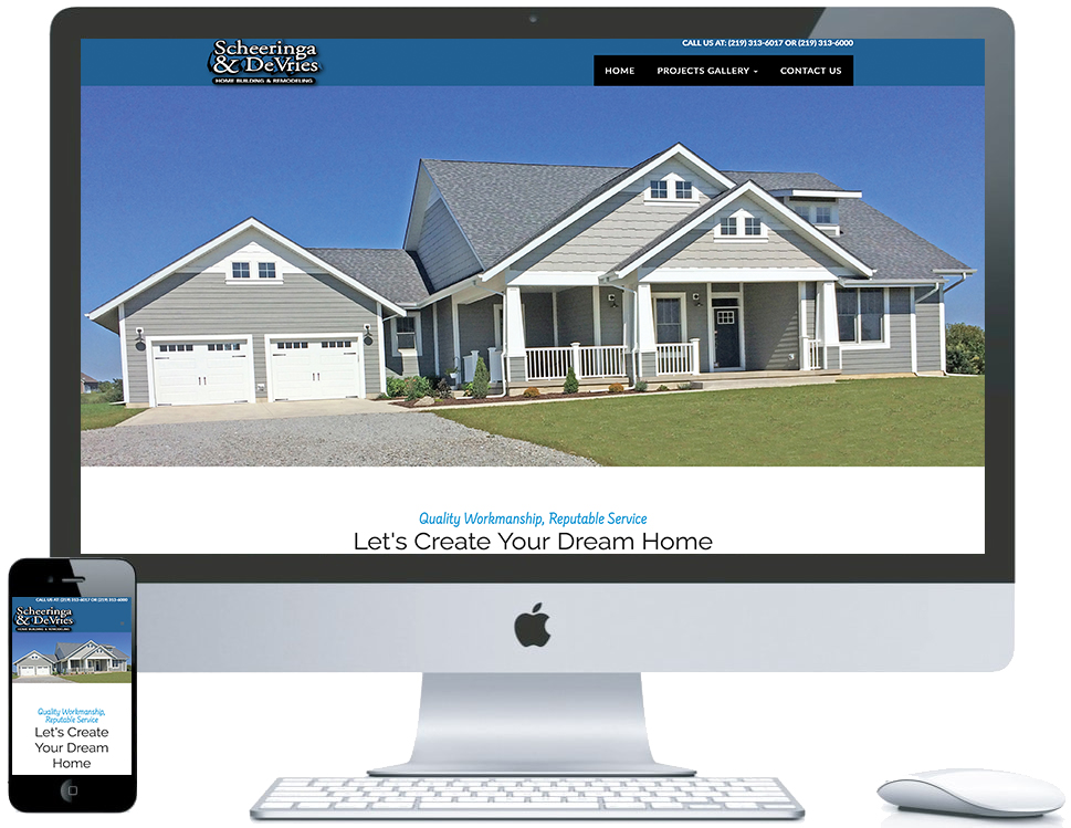 northwest indiana website design Scheeringa & DeVries Home Building & Remodeling cms