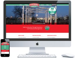 northwest indiana website design Hasse Construction Commercial Construction cms