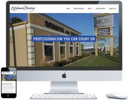northwest indiana website design D. Howard Painting Interior & Exterior Painting cms