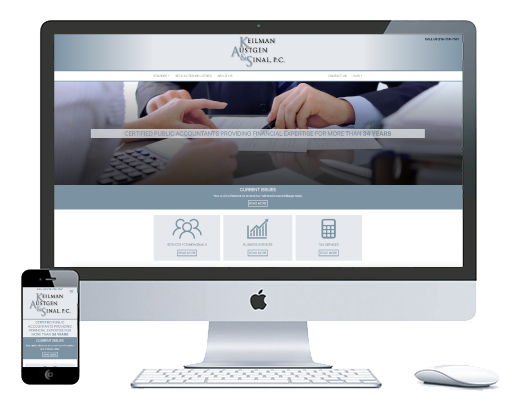 northwest indiana website design Keilman, Austgen & Sinal P.C. Certified Public Accountants cms
