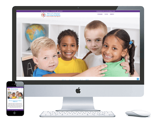 northwest indiana website design Ma's Li'L Champs Child Care Center cms theme