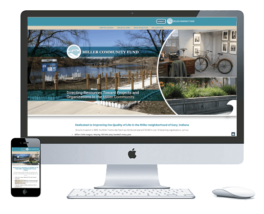 northwest indiana website design Miller Community Fund Charity cms theme