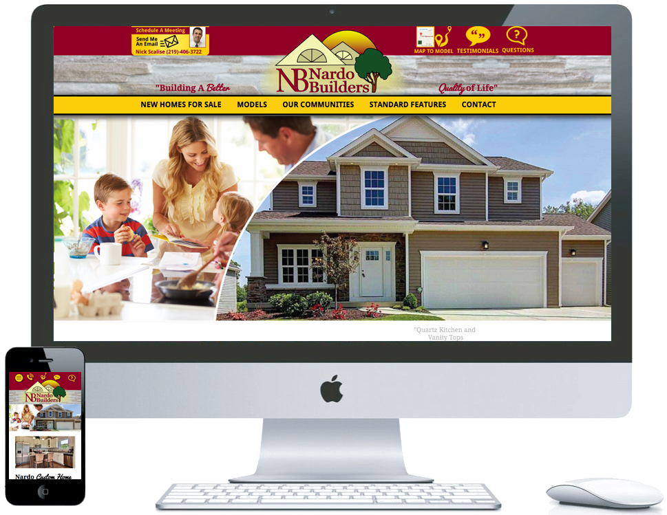 northwest indiana website design Nardo Builders Porter County Home Builder cms