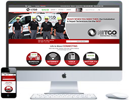 northwest indiana website design NITCO Telecom Company ecommerce custom cms