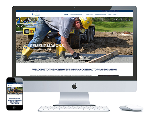 northwest indiana website design NWI Contractor Association Construction Industry responsive cms