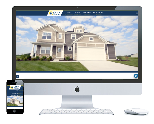 northwest indiana website design Olthof Homes Home Builder custom
