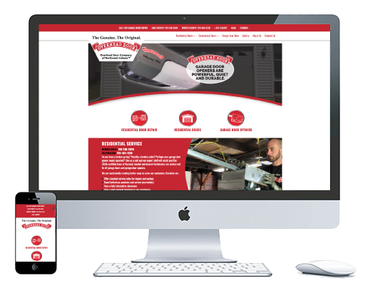 northwest indiana website design Overhead Door Company of Northwest Indiana Garage Door Repair and Installation responsive cms