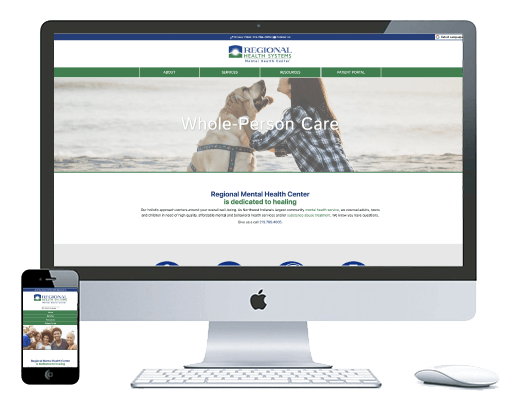 northwest indiana website design Regional Mental Health Center Community Mental Health Service cms
