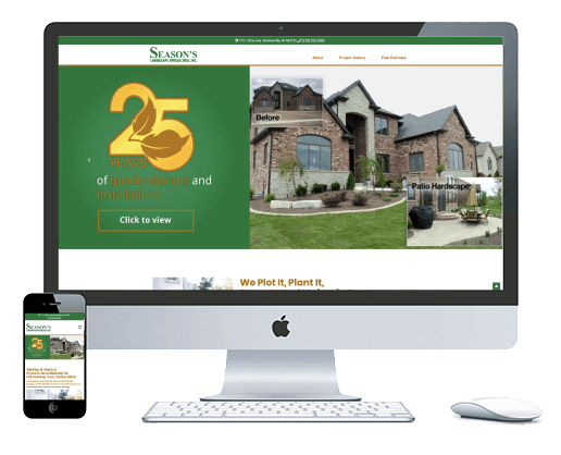 northwest indiana website design Season's Landscape Specialties Landscaping and Design cms theme