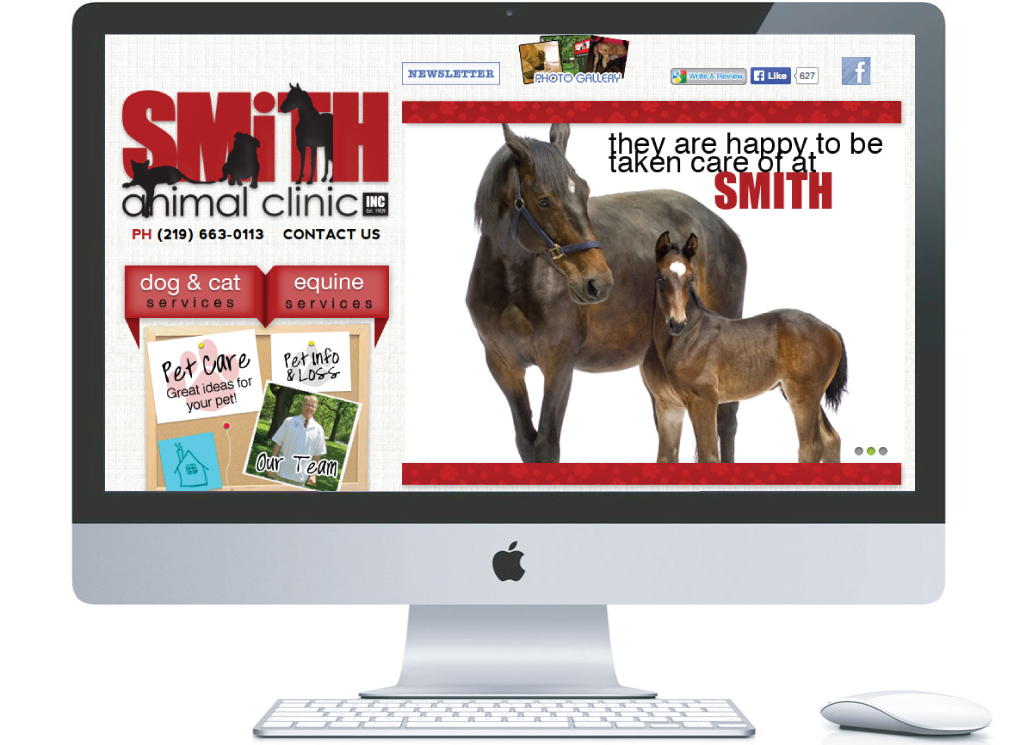 northwest indiana website design Smith Animal Clinic Animal Veterinary Clinic