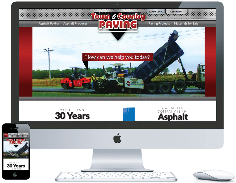 northwest indiana website design Town & Country Paving Asphalt Paving & Producing