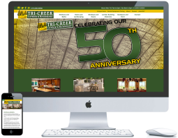 northwest indiana website design Tri-Creek Lumber & Hardware Hardware Store and Design Center ecommerce cms